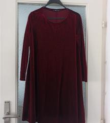 Velvet bordo haljina XS/S