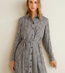 Karirana haljina uzorka kockica