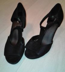 Graceland sandale crne brušena koza