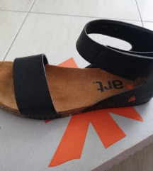 Art kožne sandale - niske, crne - 39