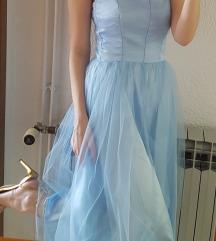 Nova svecana svijetlo plava haljina