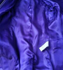 Ljubičasti kaput montgomery 34 BENETTON