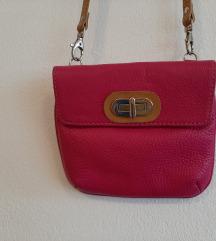 Kožna roza torbica Guliver