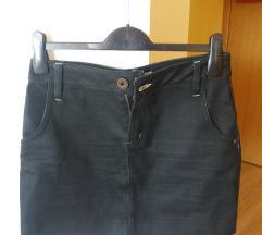 Crna traper mini suknja