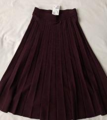 NOVO s etiketom! H&M plisirana suknja