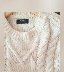 BERSHKA oversized krem pulover 🎀