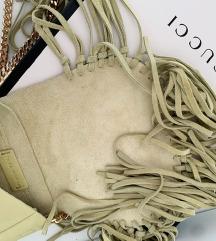 Zara potpuno nova torbica od brušene kože