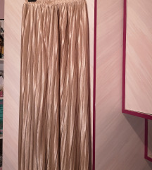 Nova zlatna plisirana suknja