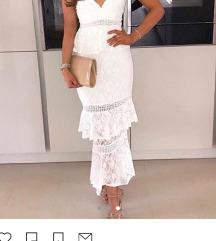 SNIŽENO - LOVE TRIANGLE bijela čipkasta haljina