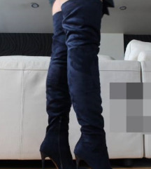 RAVNE čizme iznad koljena