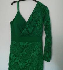 Čipkasta zelena haljina