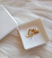 Zlatni trostruki privjesak, pravo zlato, NOVO