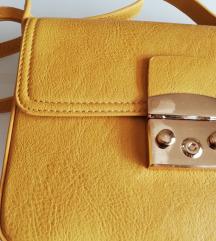 nova žuta torbica like Furla