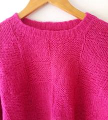 Pink pulover, ručni rad