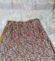 Retro midi floral suknja