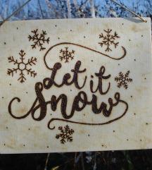 Let it snow, drvena dekoracija