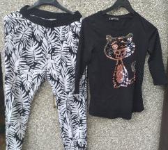 H&M  hlače + mačkica majca 36