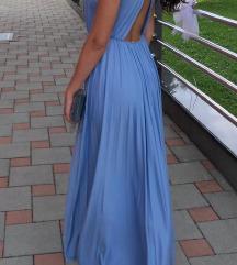 Asos plava maxi haljina