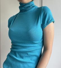 Plava dolcevita kratkih rukava