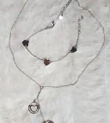 Srebrna ogrlica i narukvica set (925)