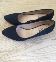 cipele na petu salonke tamno plave brušena koža 41