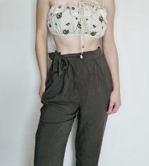 ZARA novi top + maslinaste hlače