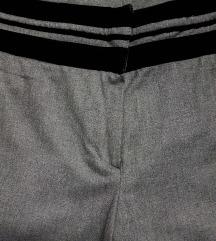 POSLOVNE široke hlače, pliš na struku,uklj.Tisak