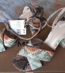 Mango sandale, zmijski print