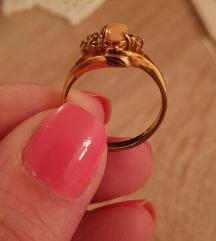 Pozlaceni zlatni prsten