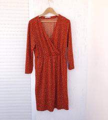 MANGO narančasta haljina na točkice