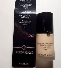 Giorgio Armani lasting silk UV foundation (novo)