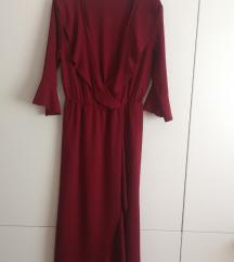 Crvena midi haljina M