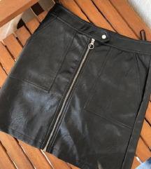 ONLY kvalitetna kožna suknja / visoki struk