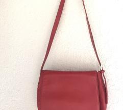 Lacoste crvena kožna torba