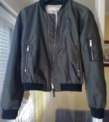 Zara bomber zelena jakna
