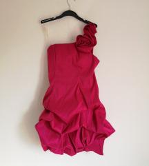 Fuksija roza svečava haljina vel S