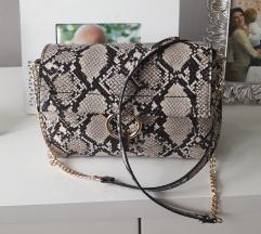 MANGO torbica zmijskog uzorka