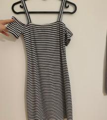 Bershka crno-bijela haljina