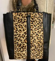 ZARA kožna torba s tigrastim uzorkom