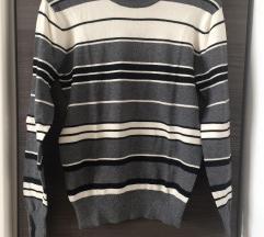 Muški pulover na prugice (M/L)