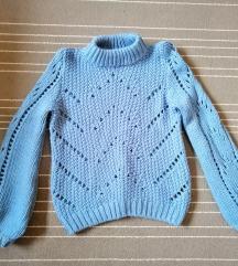 H&M plava vunena vesta xs