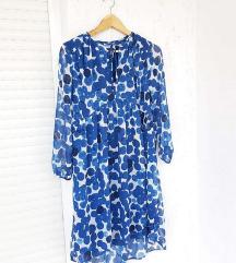 MANGO plava haljina na točkice/ točke
