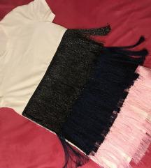 Zara haljina- majica s resama