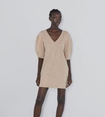 Zara  haljina sa voluminoznom rukavima
