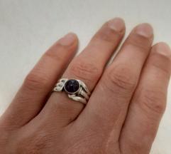 Srebrni prsten sa ametistom