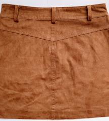 ZARA NOVO Mini bakrena suknja