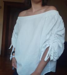 Reserved lanena majica bez ramena