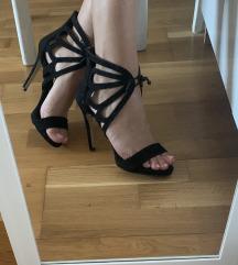 Crne sandale na petu👠