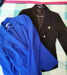 Lot dva sakoa, plavi i crni