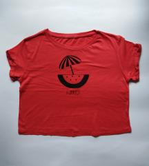 Majica s autorskom ilustracijom (crop top)
